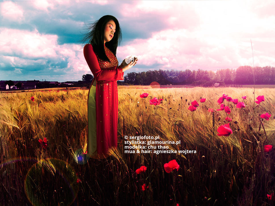 An Asian model in a magic field